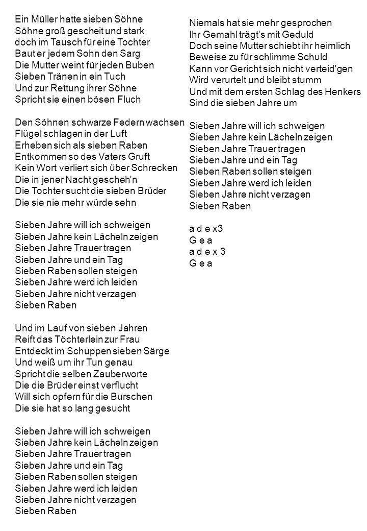 Ein Müller hatte sieben Söhne