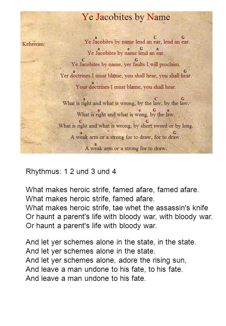 Rhythmus: 1 2 und 3 und 4