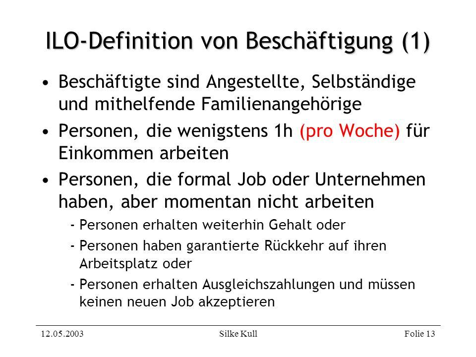 ILO-Definition von Beschäftigung (1)
