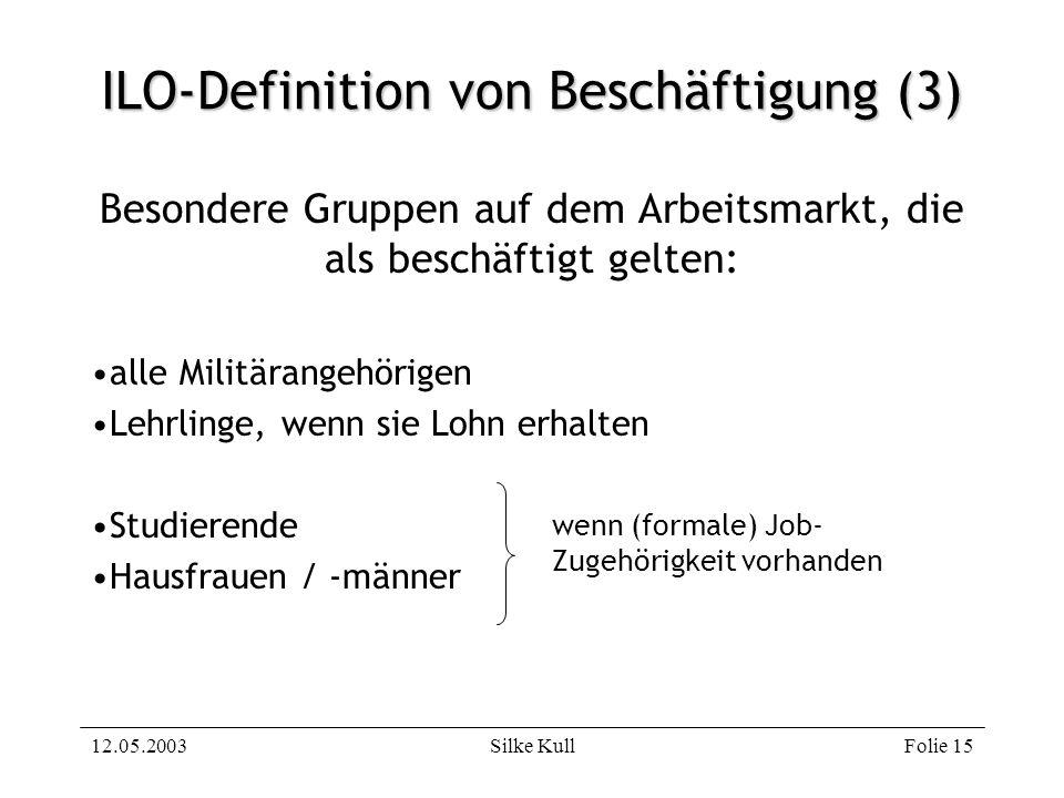 ILO-Definition von Beschäftigung (3)