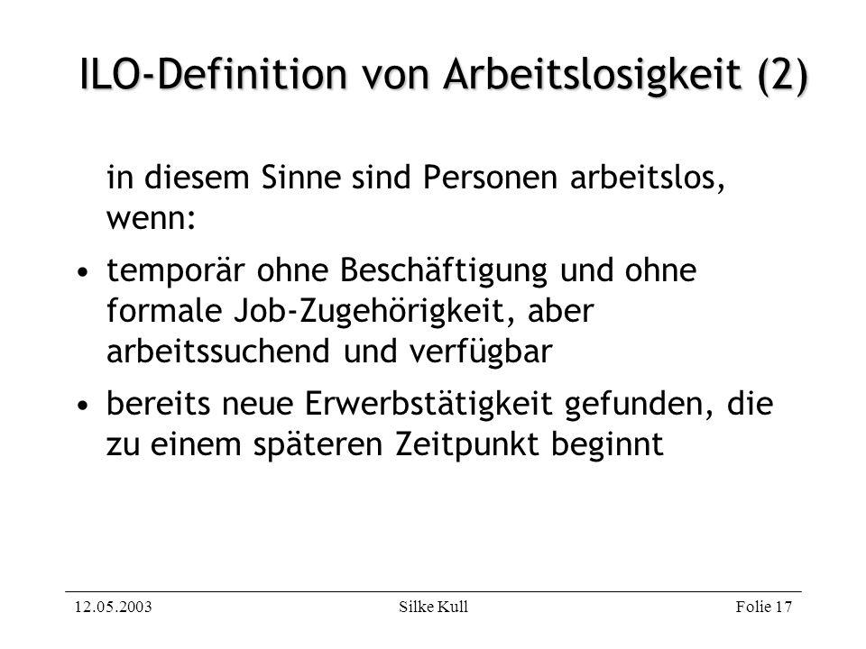 ILO-Definition von Arbeitslosigkeit (2)