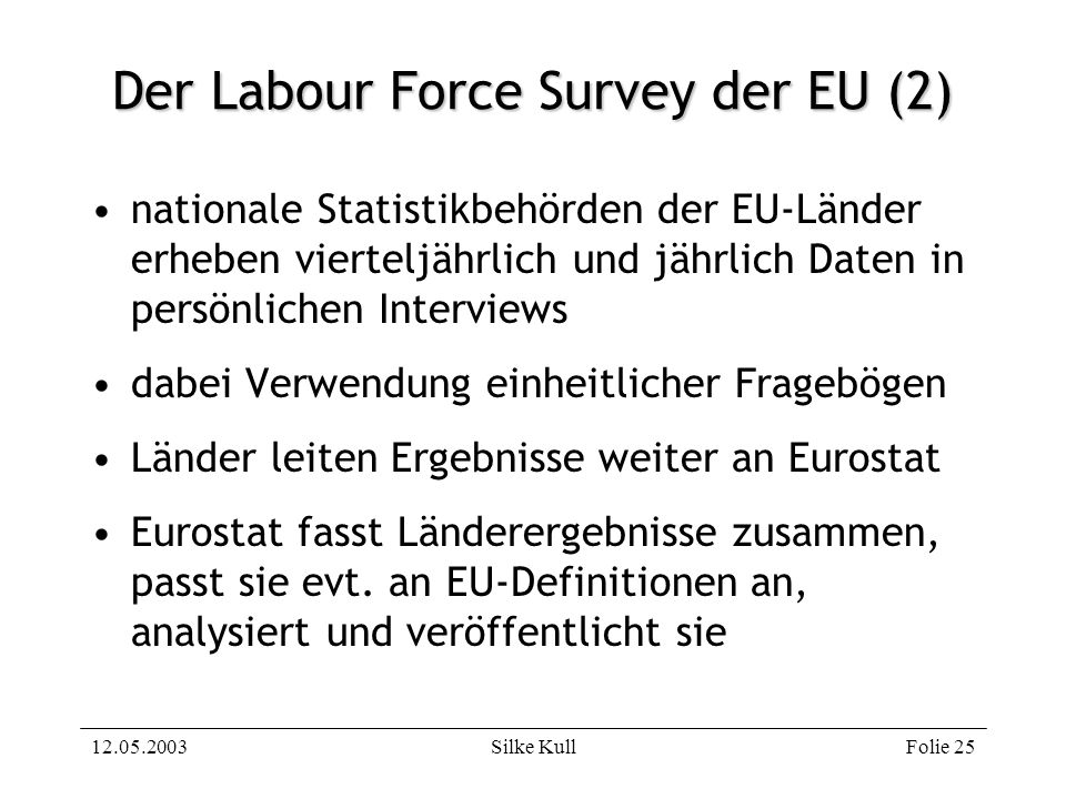 Der Labour Force Survey der EU (2)