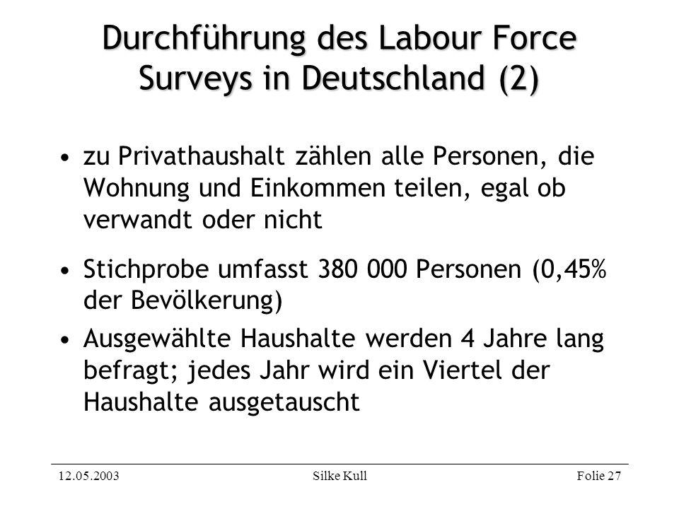 Durchführung des Labour Force Surveys in Deutschland (2)