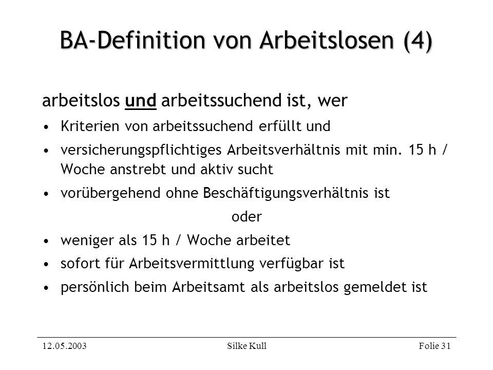 BA-Definition von Arbeitslosen (4)