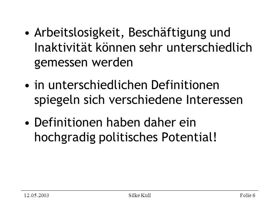 Definitionen haben daher ein hochgradig politisches Potential!