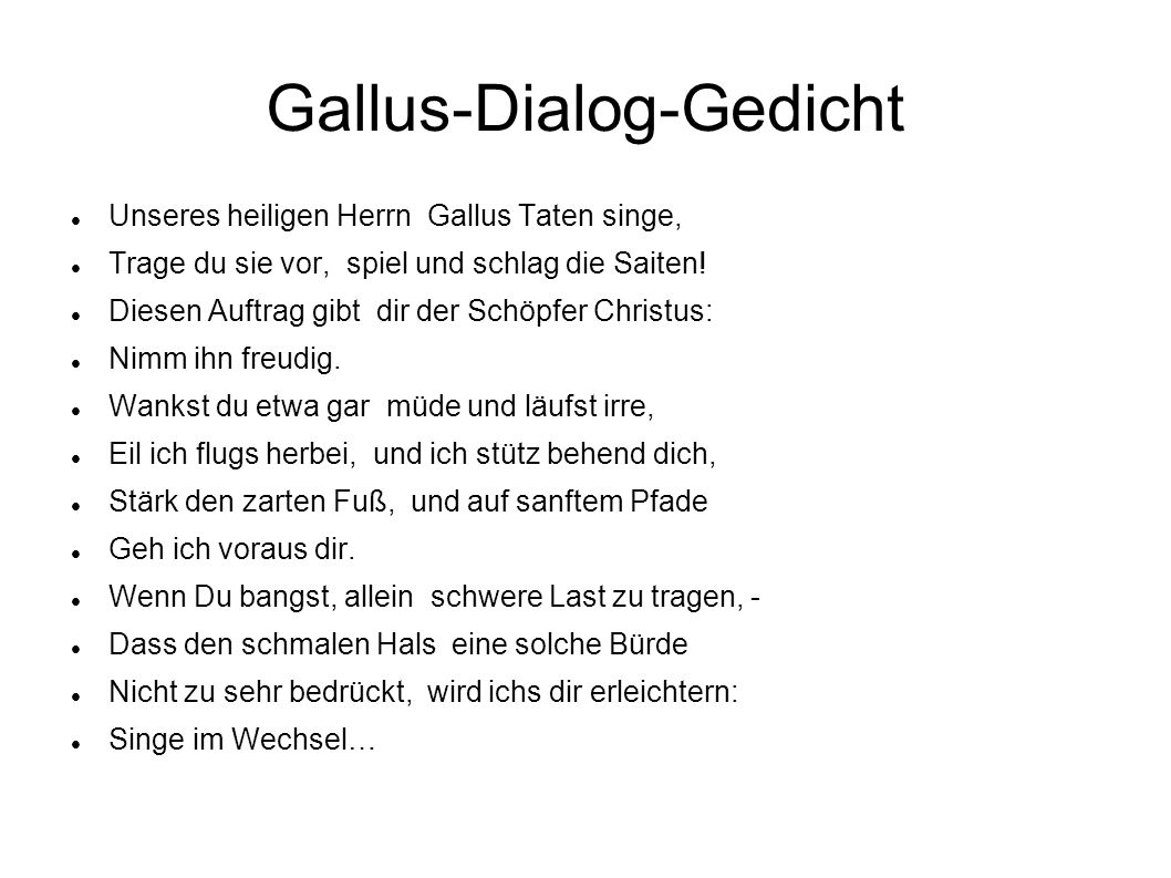 Gallus-Dialog-Gedicht