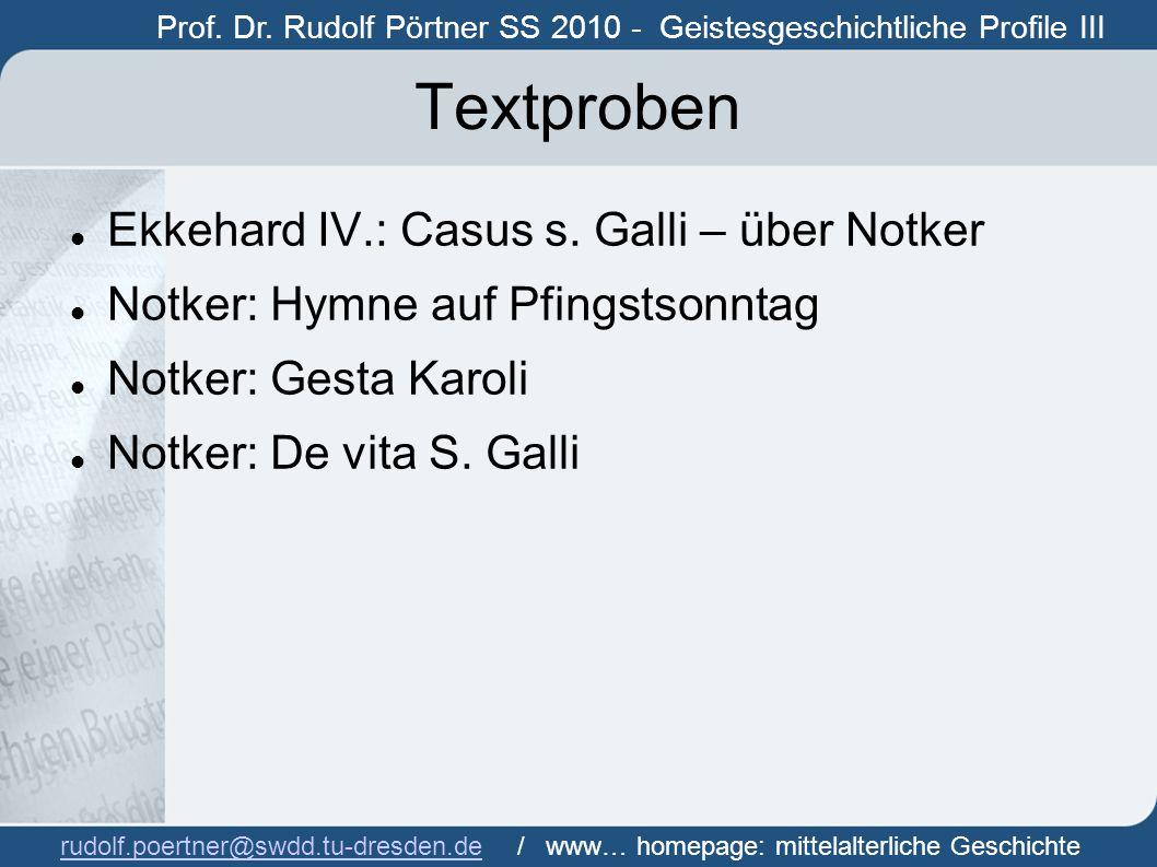 Textproben Ekkehard IV.: Casus s. Galli – über Notker