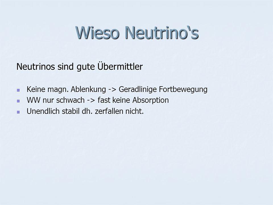 Wieso Neutrino's Neutrinos sind gute Übermittler