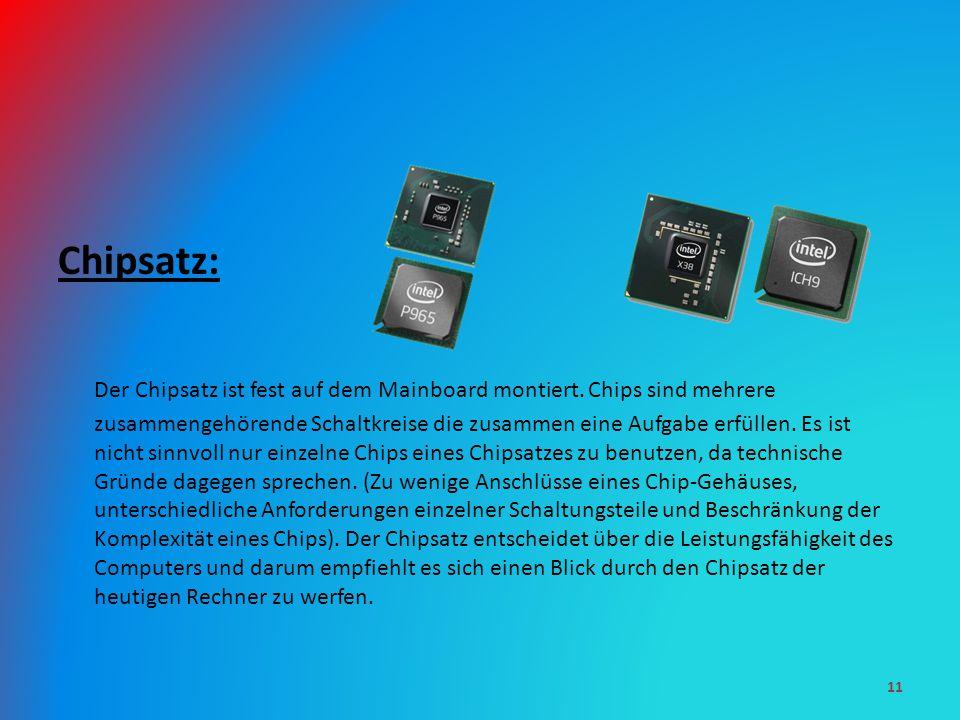 Chipsatz: Der Chipsatz ist fest auf dem Mainboard montiert