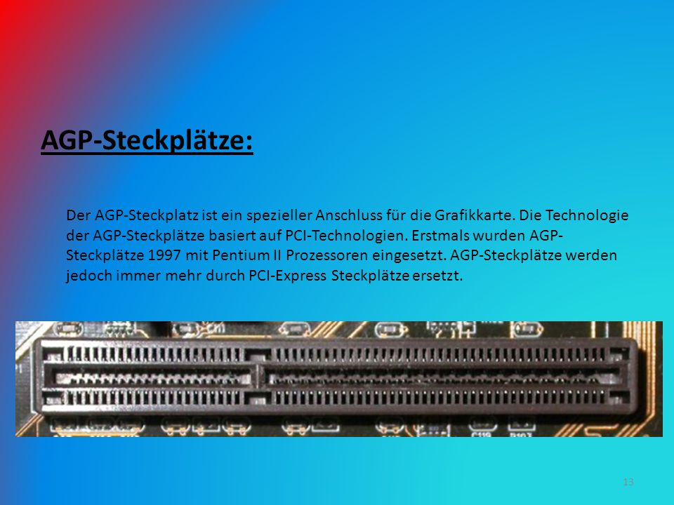 AGP-Steckplätze: