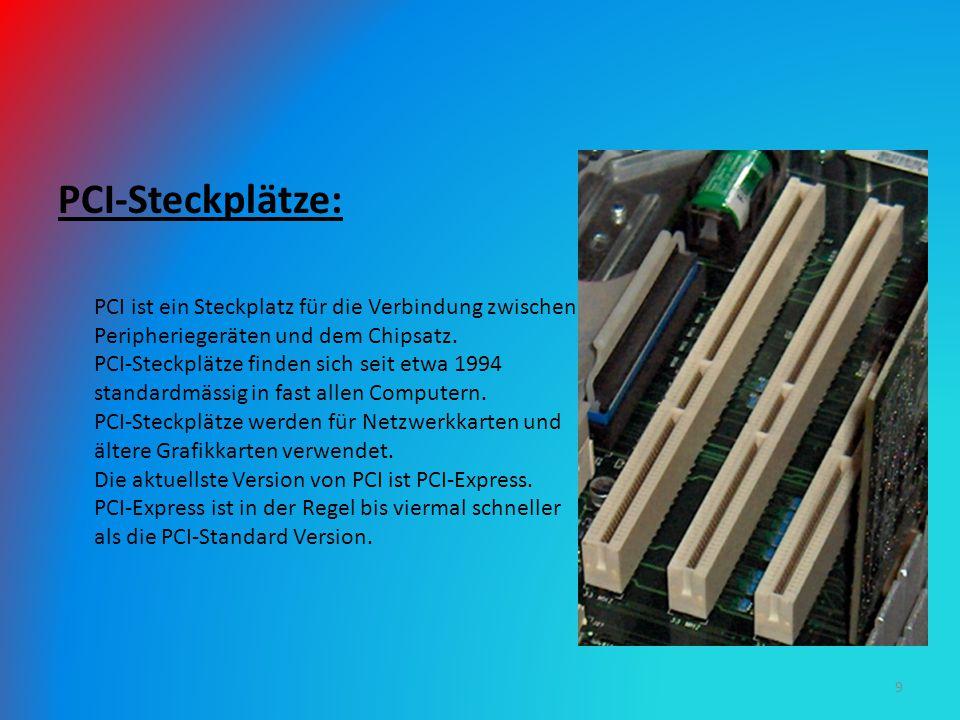 PCI-Steckplätze:
