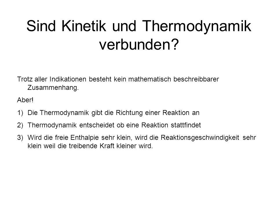 Sind Kinetik und Thermodynamik verbunden