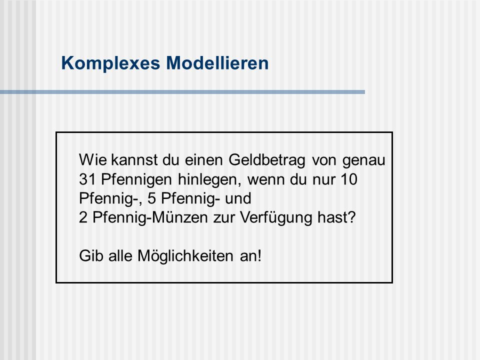Komplexes Modellieren