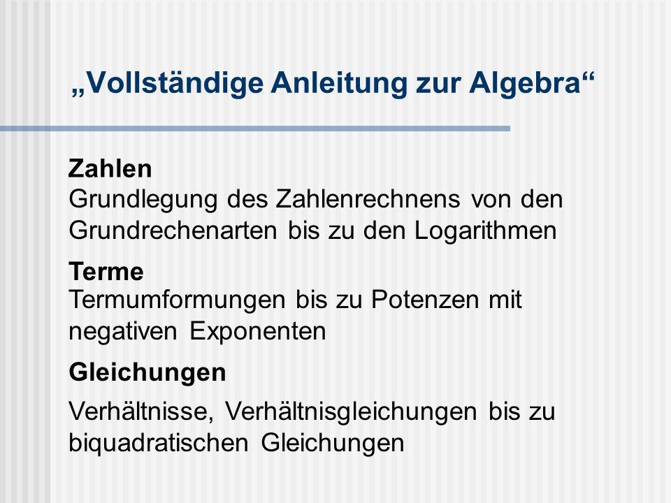 """""""Vollständige Anleitung zur Algebra"""