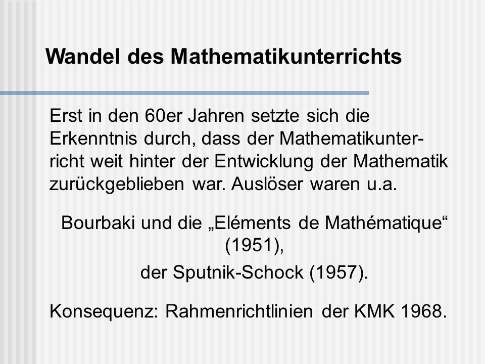 "Bourbaki und die ""Eléments de Mathématique (1951),"
