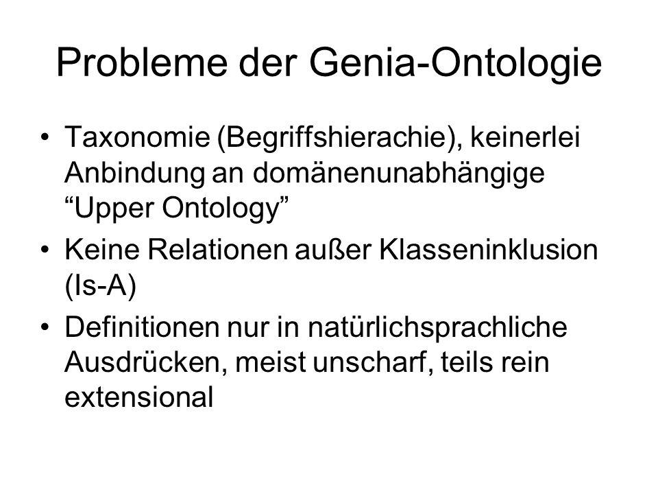 Probleme der Genia-Ontologie