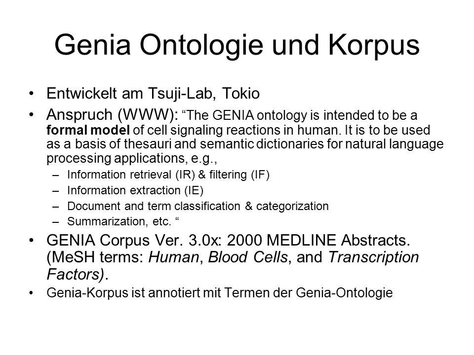 Genia Ontologie und Korpus