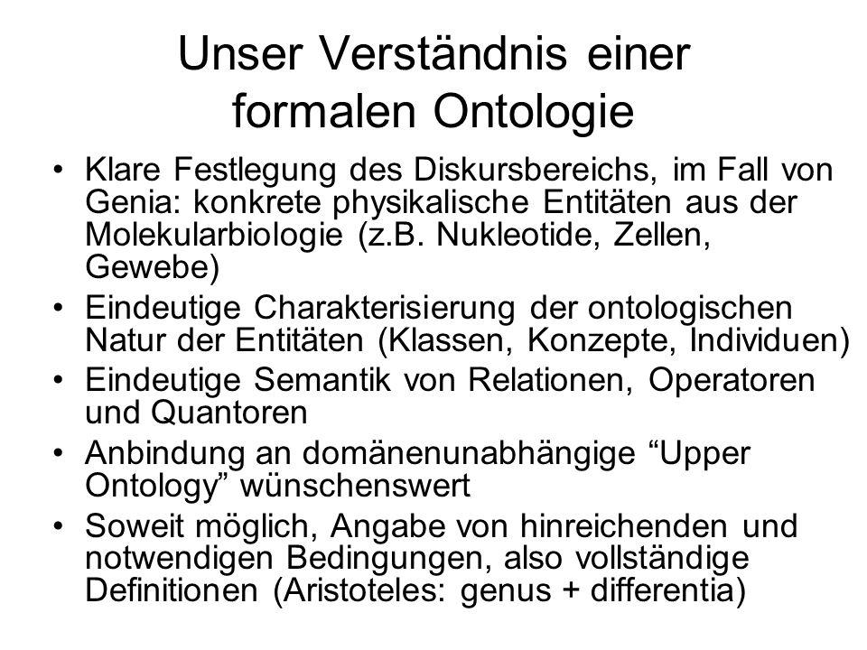 Unser Verständnis einer formalen Ontologie
