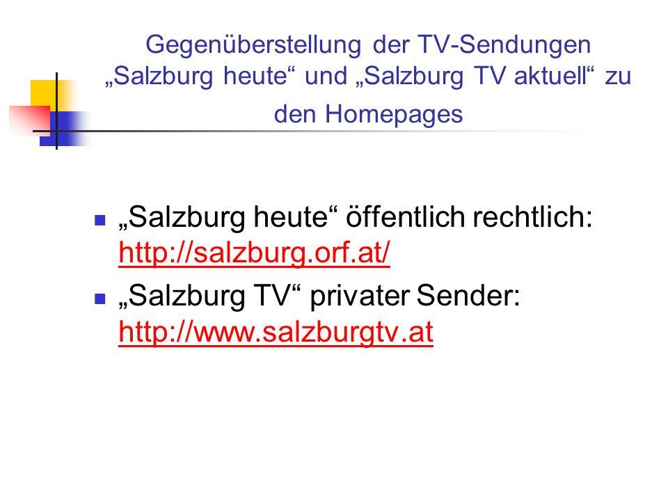 """""""Salzburg heute öffentlich rechtlich: http://salzburg.orf.at/"""