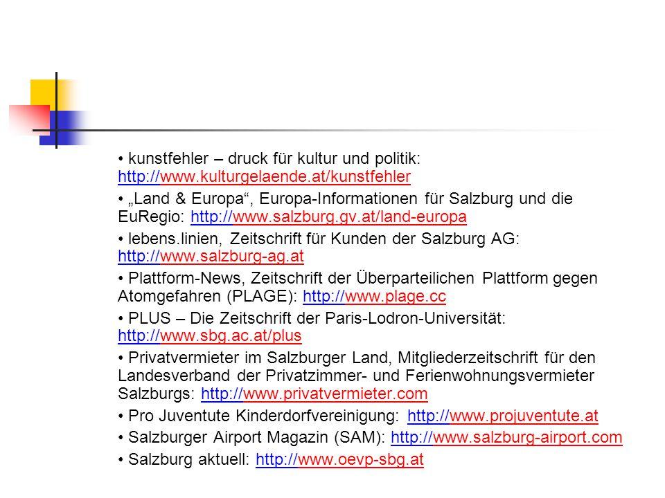 • kunstfehler – druck für kultur und politik: http://www