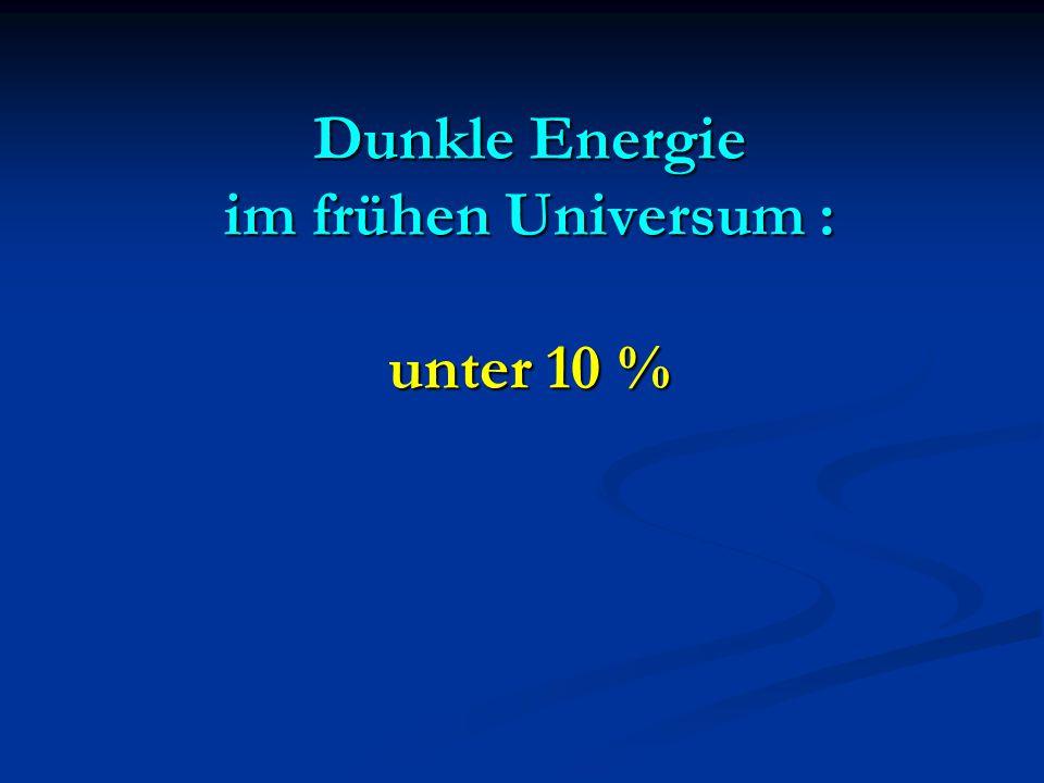Dunkle Energie im frühen Universum : unter 10 %