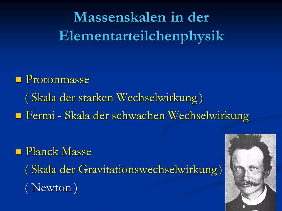 Massenskalen in der Elementarteilchenphysik