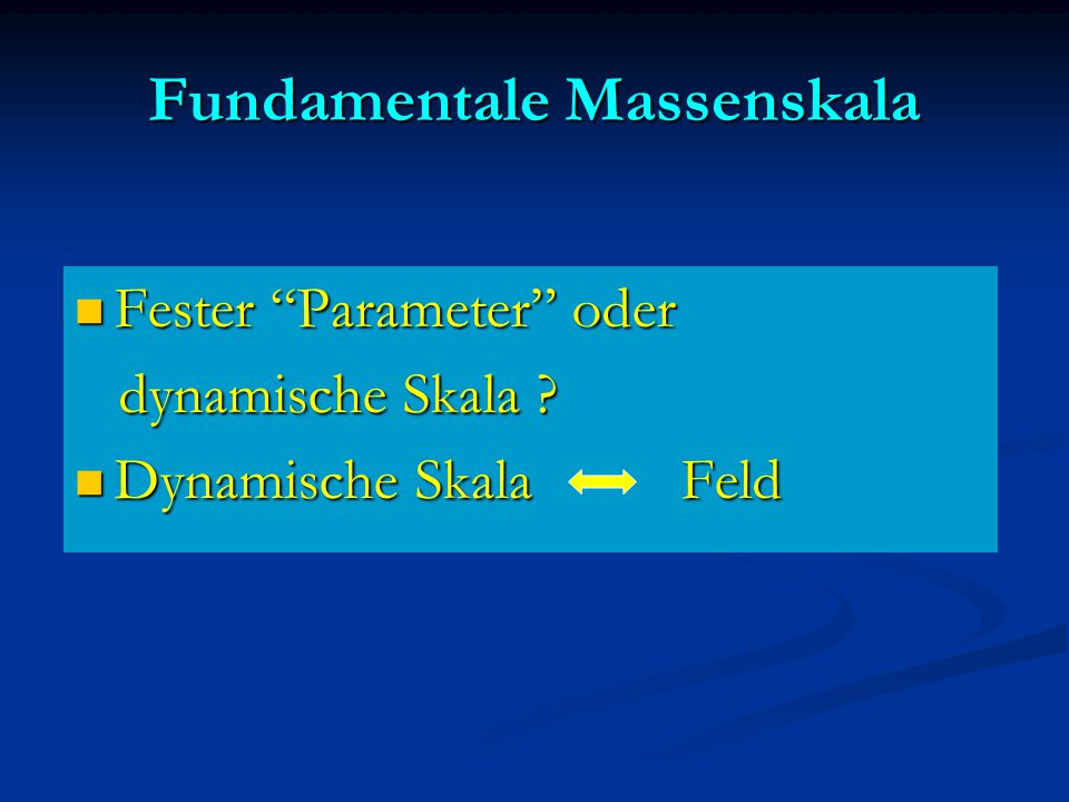 Fundamentale Massenskala