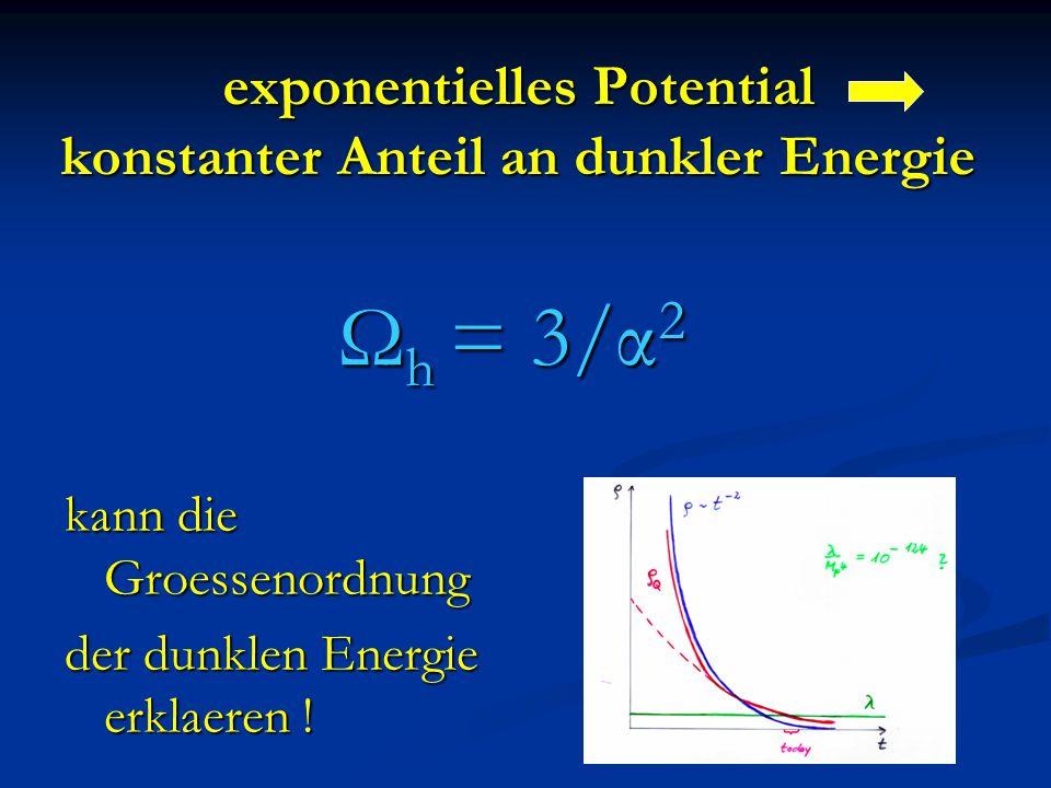 exponentielles Potential konstanter Anteil an dunkler Energie