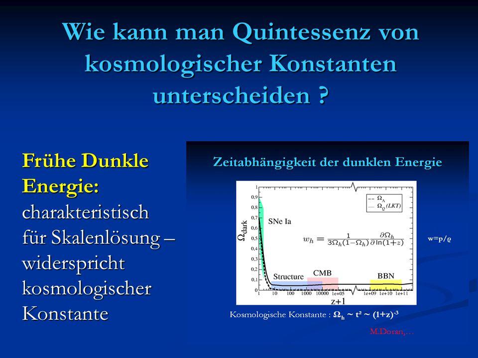 Wie kann man Quintessenz von kosmologischer Konstanten unterscheiden