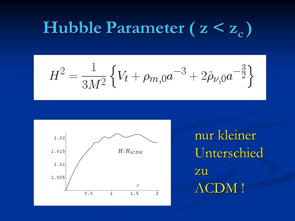 Hubble Parameter ( z < zc )