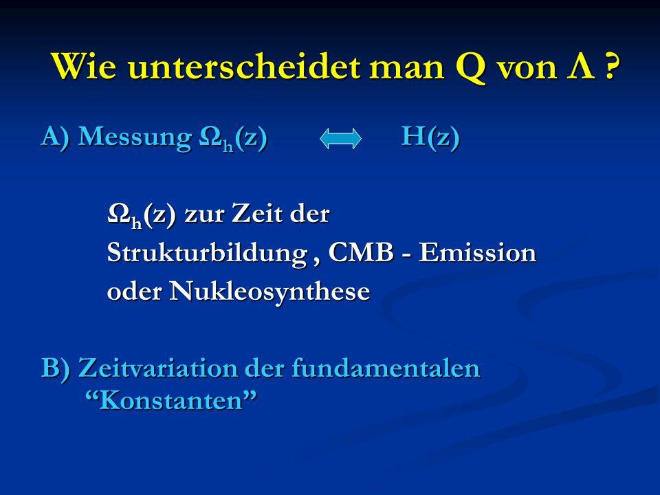 Wie unterscheidet man Q von Λ