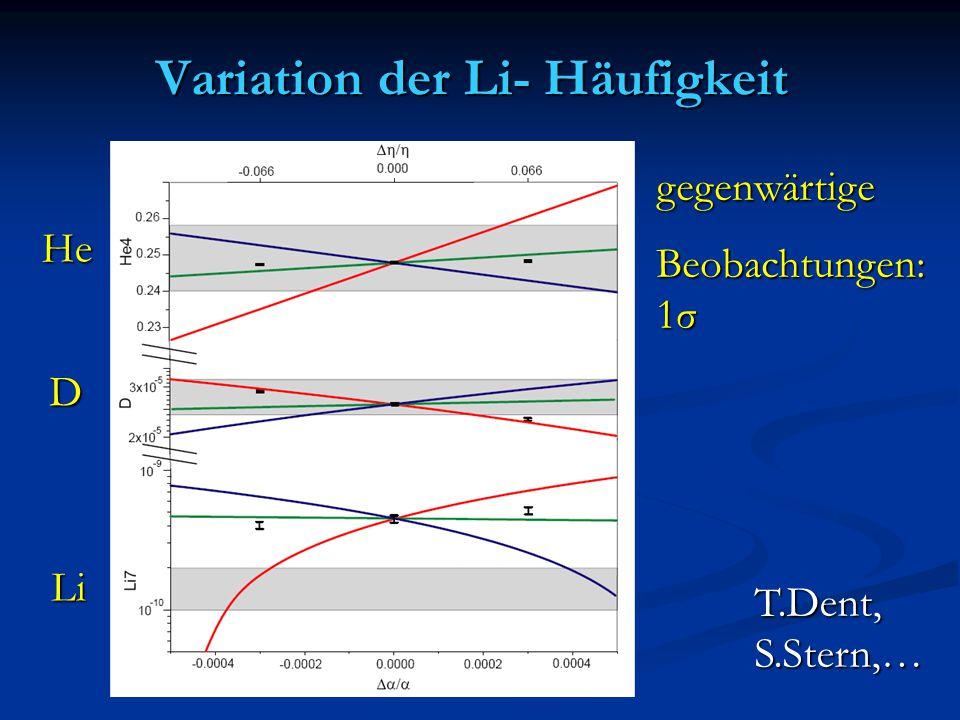 Variation der Li- Häufigkeit