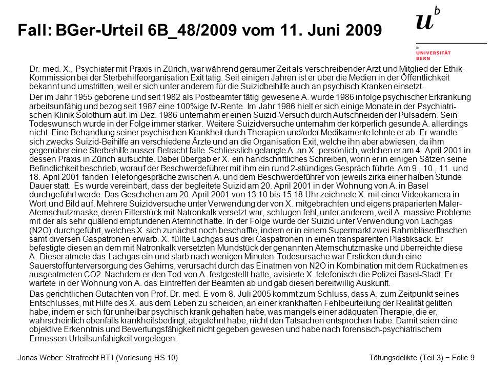 Fall: BGer-Urteil 6B_48/2009 vom 11. Juni 2009