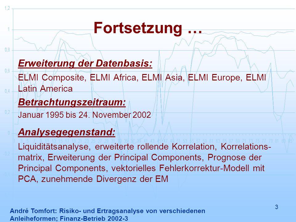 Fortsetzung … Erweiterung der Datenbasis: Betrachtungszeitraum: