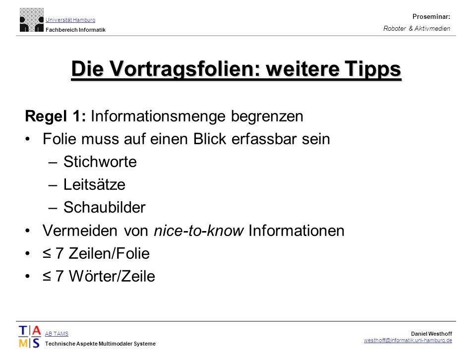 Die Vortragsfolien: weitere Tipps