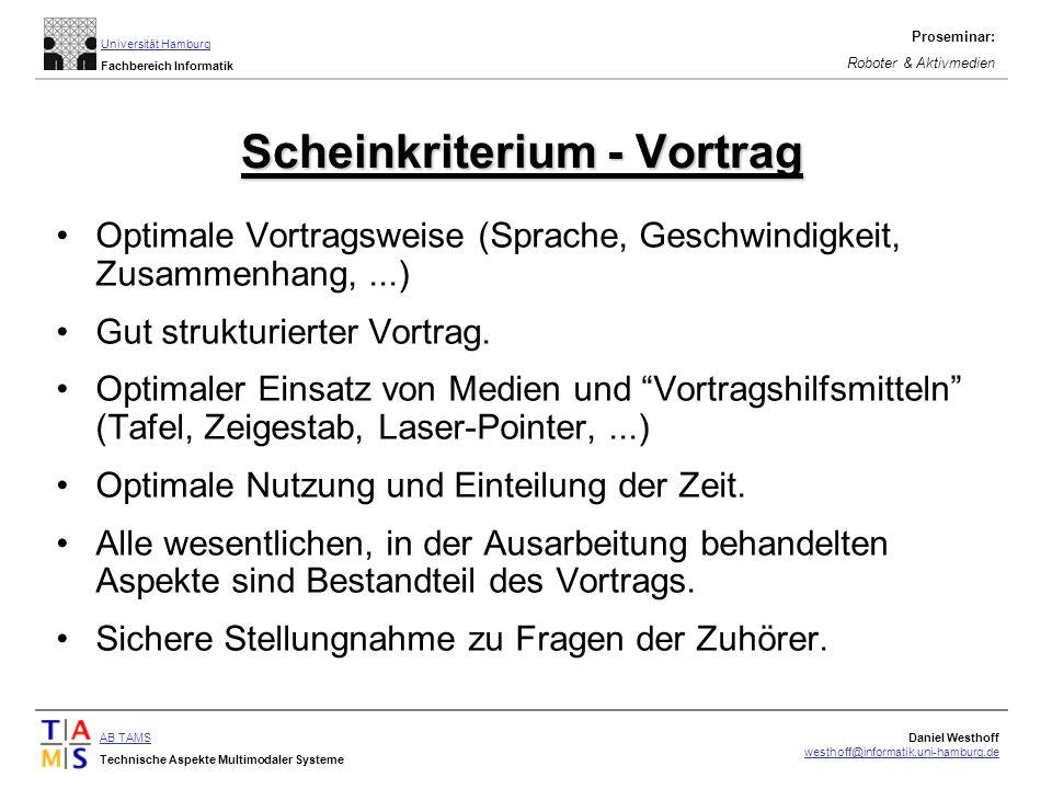 Scheinkriterium - Vortrag