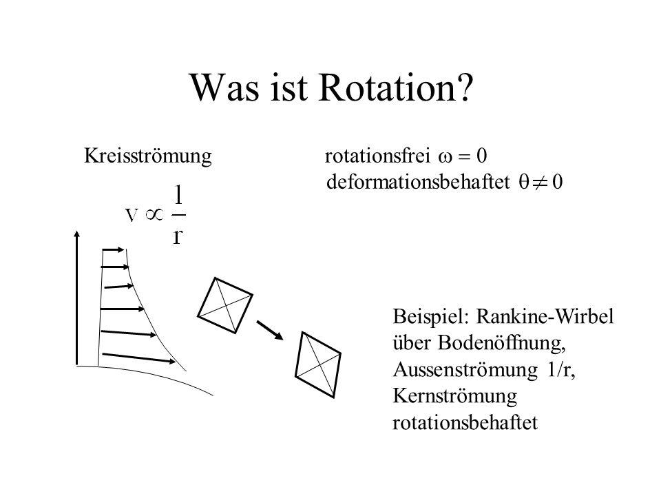 Was ist Rotation Kreisströmung rotationsfrei w = 0