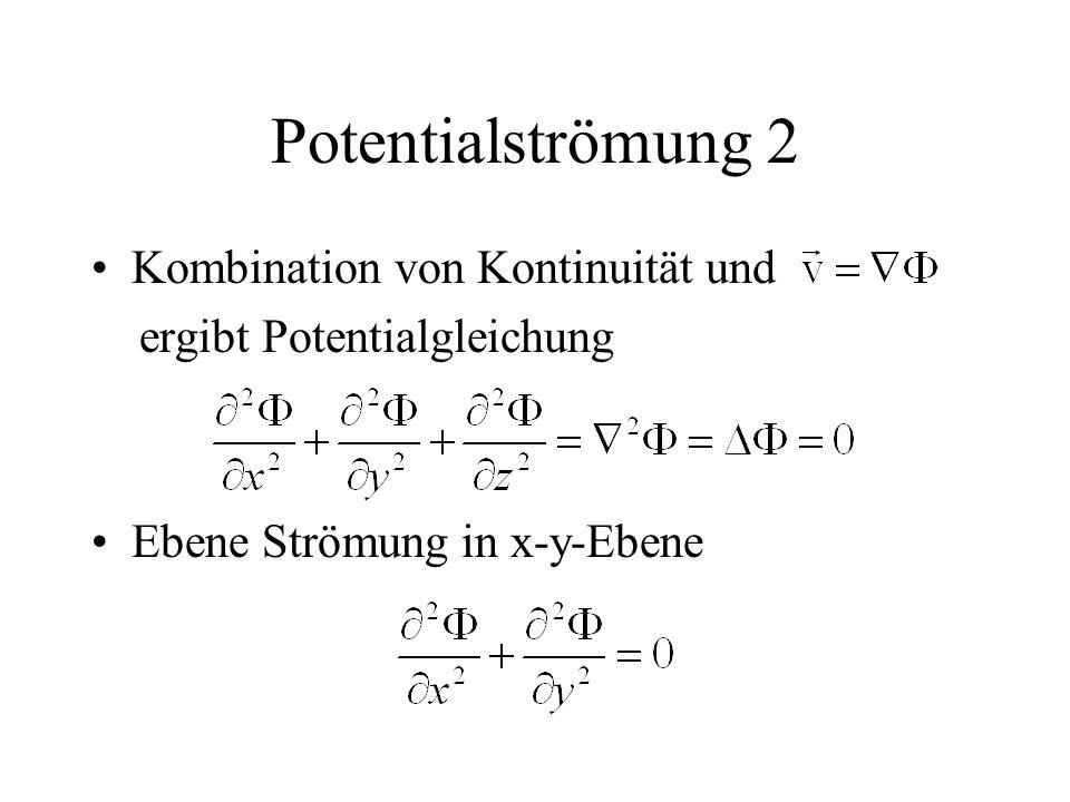 Potentialströmung 2 Kombination von Kontinuität und
