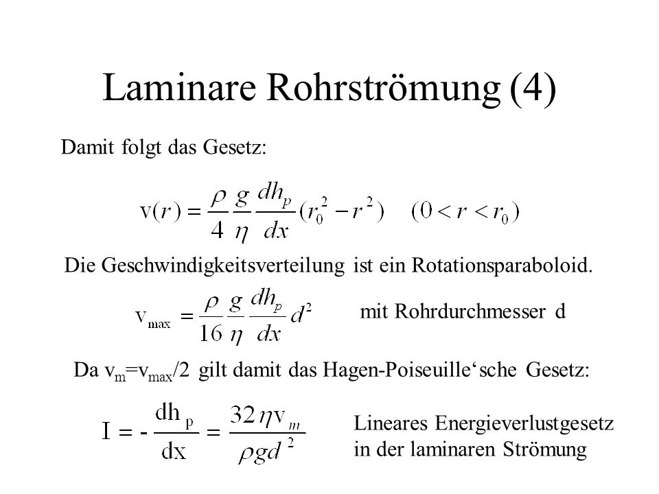 Laminare Rohrströmung (4)