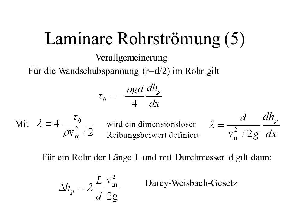 Laminare Rohrströmung (5)