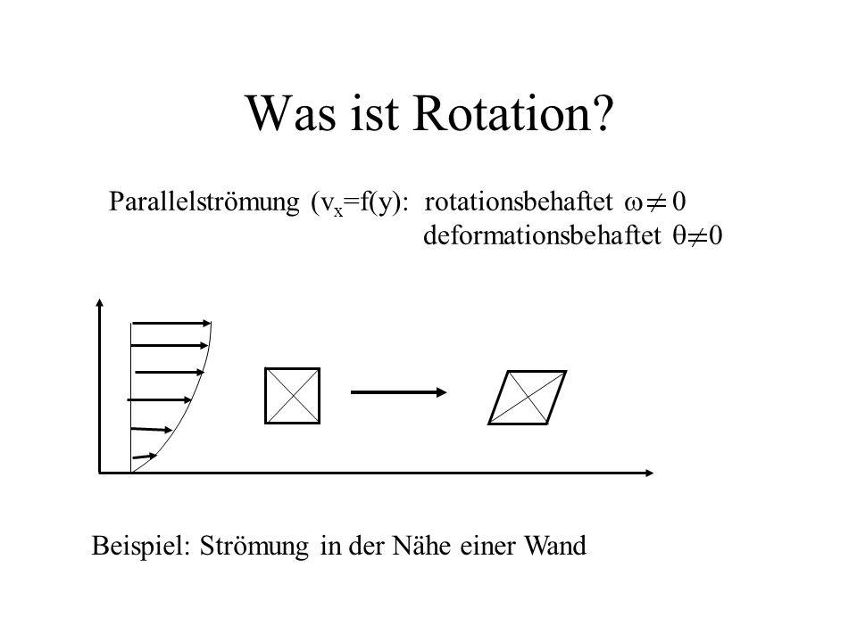 Was ist Rotation Parallelströmung (vx=f(y): rotationsbehaftet w 0