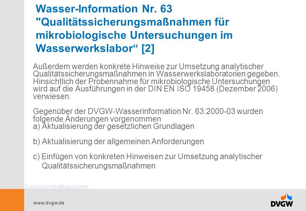 Wasser-Information Nr