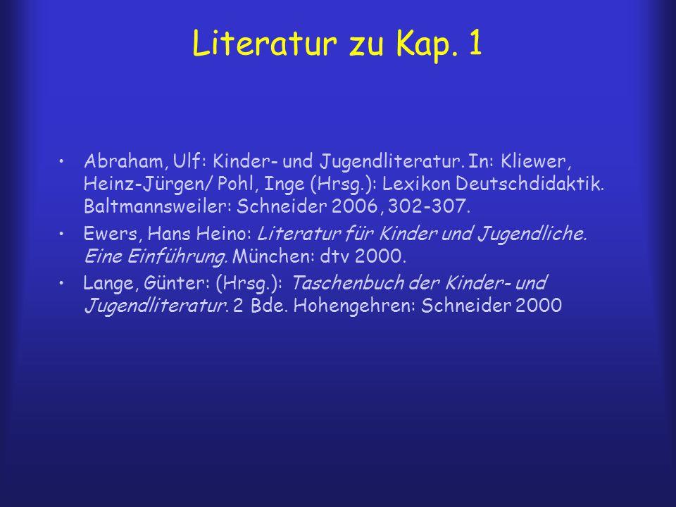 Literatur zu Kap. 1