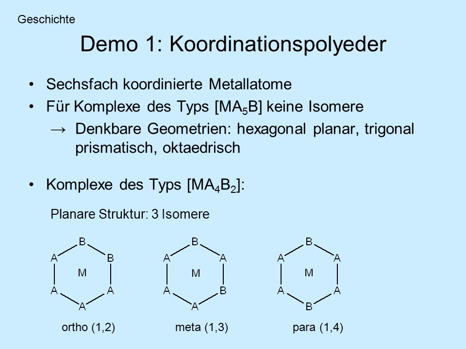 Demo 1: Koordinationspolyeder