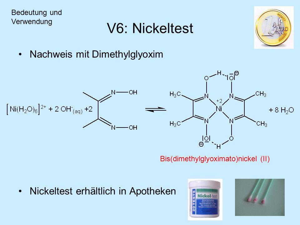 V6: Nickeltest Nachweis mit Dimethylglyoxim
