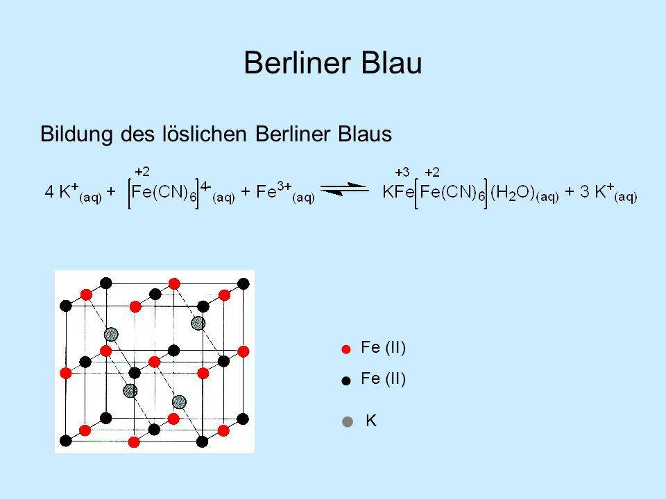 Berliner Blau Bildung des löslichen Berliner Blaus Fe (II) Fe (II) K