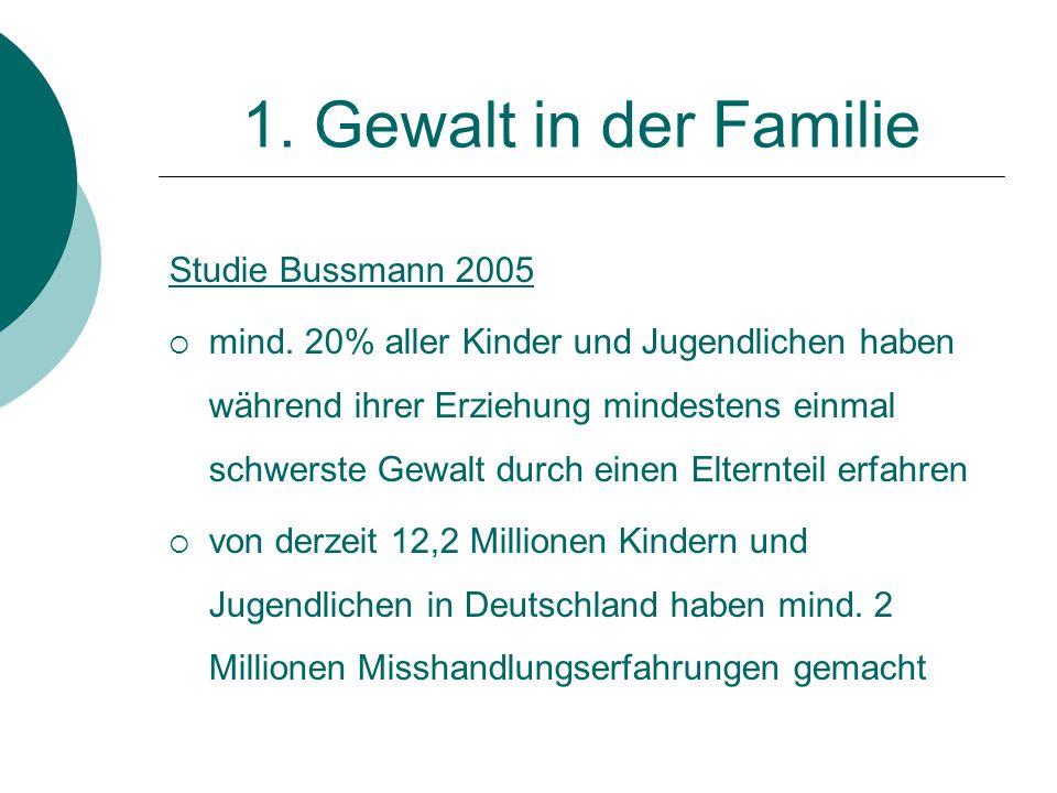 1. Gewalt in der Familie Studie Bussmann 2005
