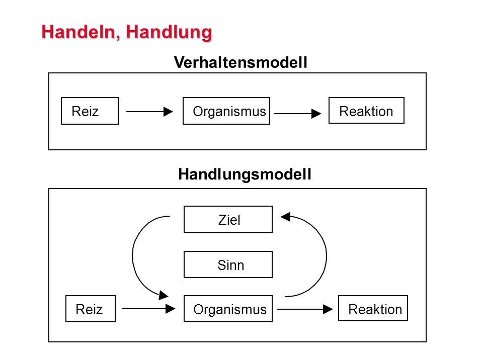 Handeln, Handlung Verhaltensmodell Handlungsmodell Reiz Organismus