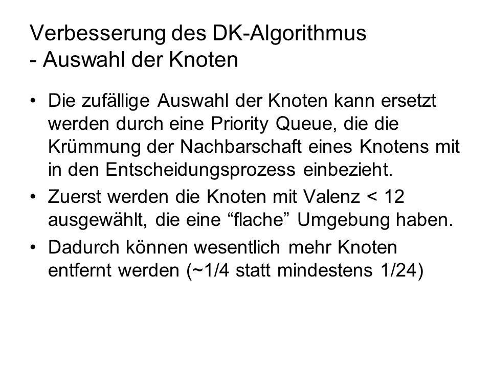 Verbesserung des DK-Algorithmus - Auswahl der Knoten