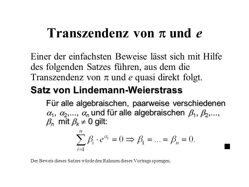 Transzendenz von  und e
